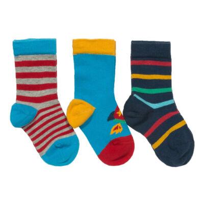 3 pár vidám színes pihe-puha gyerek zokni