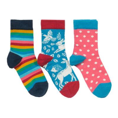 Pihe-puha biopamut kislány zokni szett - 3 pár