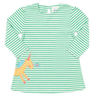 Szépséges unikornisos csecsemő ruha - organikus pamutból