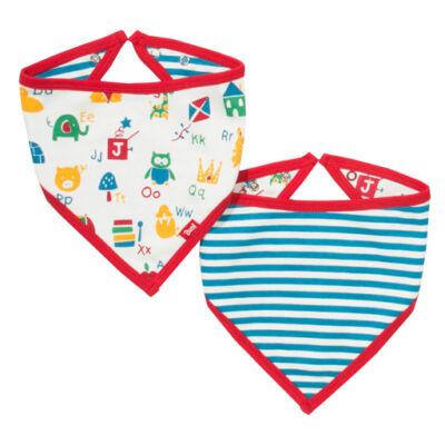 Színes vidám baba nyálkendő - kétoldalas