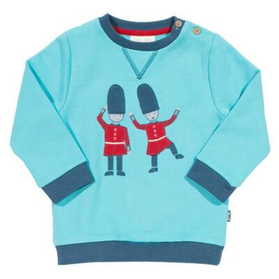 Világoskék gyerek pulcsi - vidám őrökkel