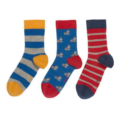 3 pár biopamut gyerek zokni 23-25-ös