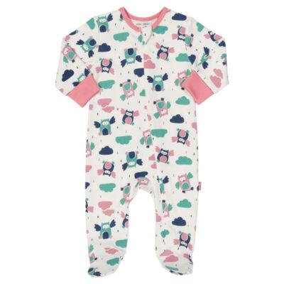 Baglyos, zipzáros biopamut kislány rugi, pizsama