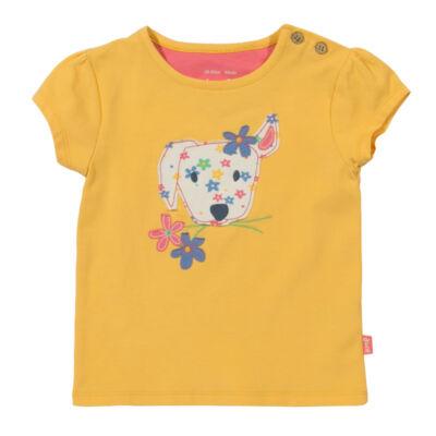 Aranyos lányka póló kiskutyussal