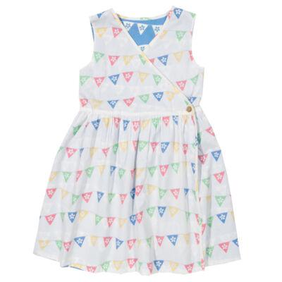 Kifordítható átlapolt kislány ruha