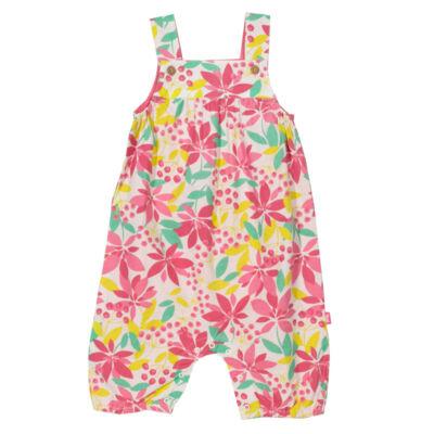 Kislány baba napozó trópusi mintával