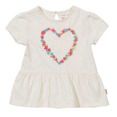 Kislány csinos szíves tunika-póló