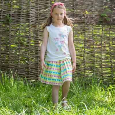 NaturAnyu Babaruha-Gyerekruha Elbűvölő kislány póló lepkemintával