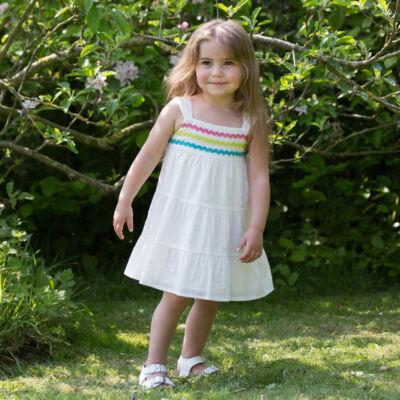 NaturAnyu Babaruha-Gyerekruha Szellős, vékony, biopamut nyári ruha