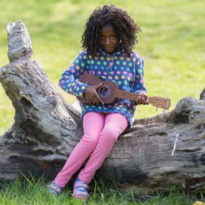 NaturAnyu Babaruha-Gyerekruha Virágos polár gyerek pulóver