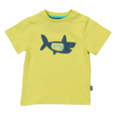 Puha biopamut gyerek póló vagány cápa mintával