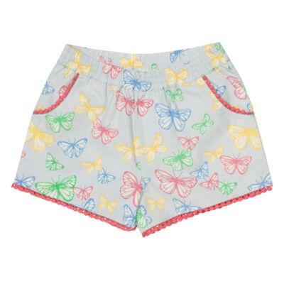 Vidám pillangós lányka rövidnadrág