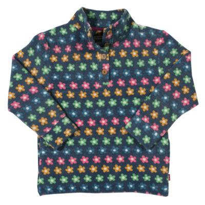 Virágos polár gyerek pulóver