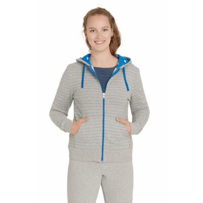 Designer, prémium minőségű, biopamut női pulcsi kapucnival