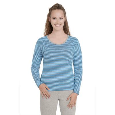 Prémium minőségű biopamut női póló - hosszú ujjú