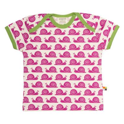Biopamut, designer gyerek póló - rövidujjú - Fuchsia