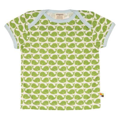 Biopamut, designer gyerek póló - rövidujjú - Moss