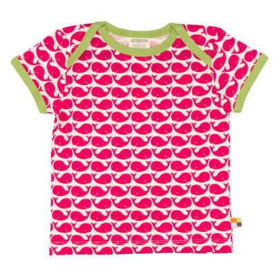 Biopamut, designer gyerek póló - rövidujjú - Rose
