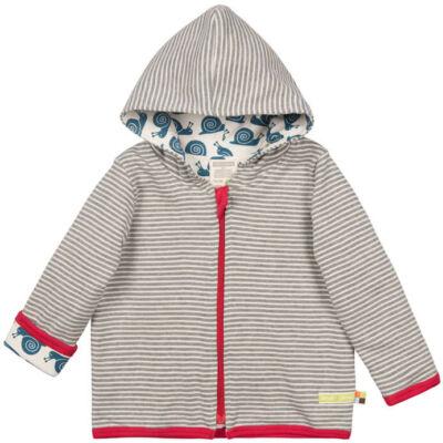 Biopamut, designer kifordítható gyerek pulcsi - Grey