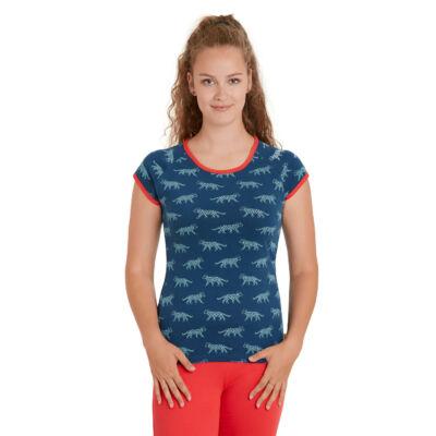Biopamut designer női póló - rövidujjú - LIMITÁLT MODELL - Ultramarine