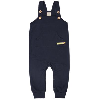 Biopamut gyerek kantáros nadrág, rugdalózó nagy méretben is - Navy