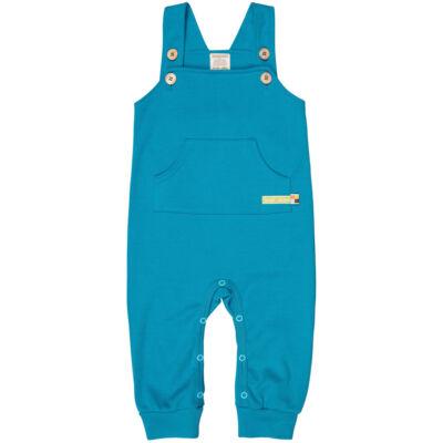 Biopamut gyerek kantáros nadrág, rugdalózó nagy méretben is - Petrol