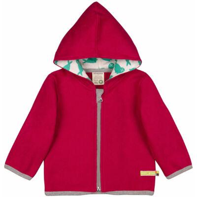 Designer, prémium minőségű, biopamut, vastag gyerek pulóver kapucnival, polárszerű külsővel