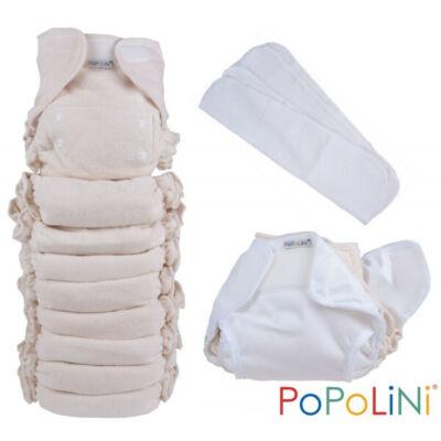 Egyméretes organikus mosható pelenka szett natúr színben - PoPoLiNi UltraFit