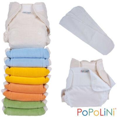 Egyméretes organikus mosható pelenka szett szivárvány - PoPoLiNi UltraFit