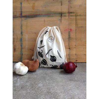 The Sorting Bags zöldség mintás ökozsák - M