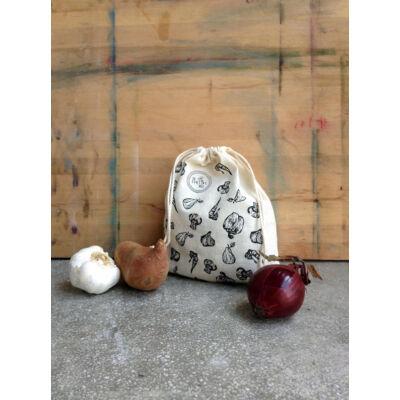 The Sorting Bags zöldség mintás ökozsák - S