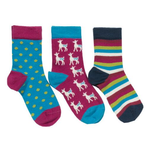 Kényelmes puha organikus pamut lányka zokni szett -3 db