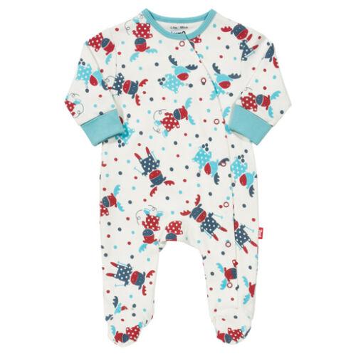 Karácsonyi csecsemő rugdalózó - bájos rénszarvas mintával