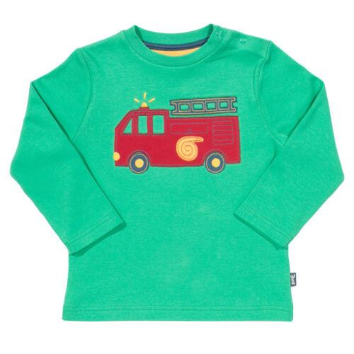 Tűzoltó autós vidám biopamut kisfiú póló