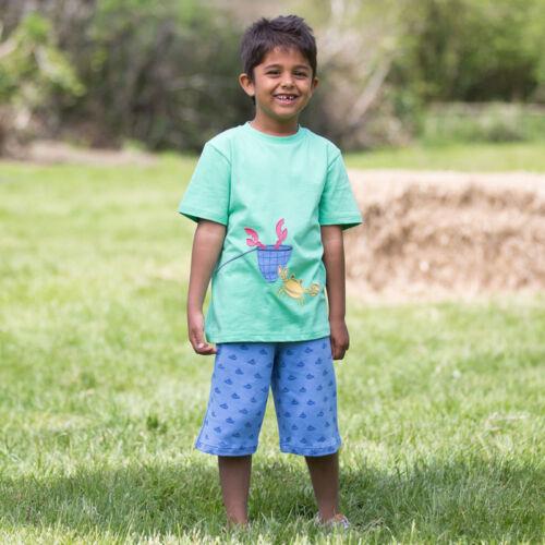 NaturAnyu Babaruha-Gyerekruha Biopamut kisfiú póló vidám rákocskával