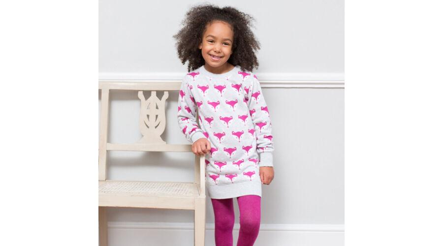 Elképesztően divatos kötött kislány ruha a legselymesebb organikus pamutból cd134f5bc0